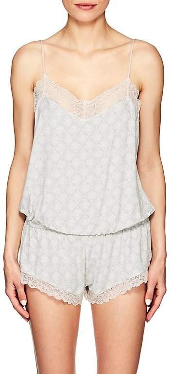 WOMEN'S FOSSIL ROCK LACE-TRIMMED ROMPER