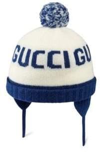 Gucci Baby's Pom Pom Beanie