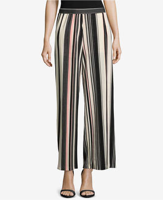 ECI Striped Wide-Leg Culottes