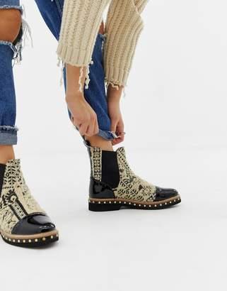 Free People Atlas textile chelsea boot