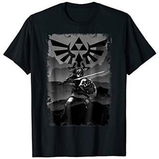 Nintendo Zelda Link Battle Ready Greyscaled Graphic T-Shirt