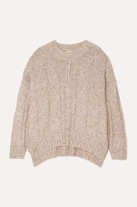 Melange Home Loulou Studio LOULOU STUDIO - Oversized Cable-knit Cotton-blend Sweater - Beige