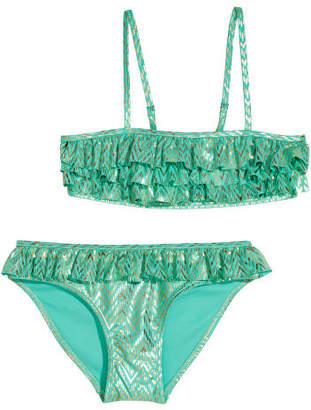 H&M Bikini with Ruffles - Green