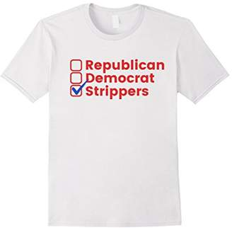Victoria's Secret Vote Political Stripper Democrat Republican T-Shirt