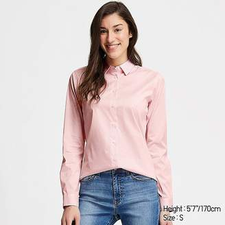Uniqlo Women's Supima Cotton Stretch Striped Long-sleeve Shirt