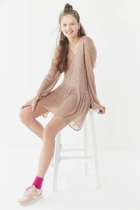 Lucca Couture Holly Lurex Drop-Waist Dress