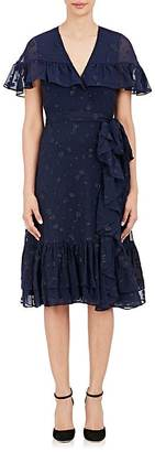 Co Women's Floral Silk-Blend Belted Dress $1,595 thestylecure.com