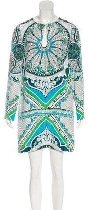 Emilio Pucci Silk Abstract Print Dress w/ Tags $245 thestylecure.com