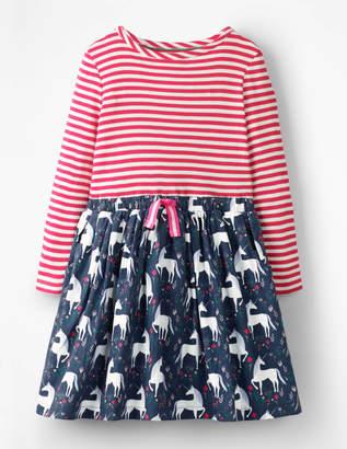 Boden Hotchpotch Tie-waist Dress