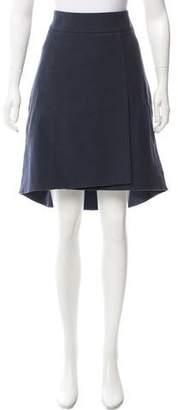 Akris High-Low Knee-Length Skirt