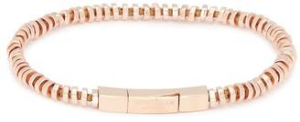 Tateossian Rose gold silver disc bead bracelet