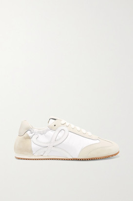 Loewe Suede And Leather Sneakers - White