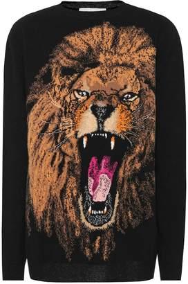 Stella McCartney Lion intarsia wool sweater