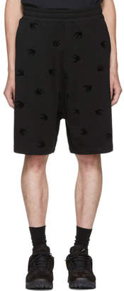 McQ Black Mini Swallow Dart Shorts