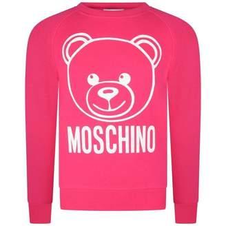 Moschino MoschinoGirls Fuchsia Teddy Print Sweater