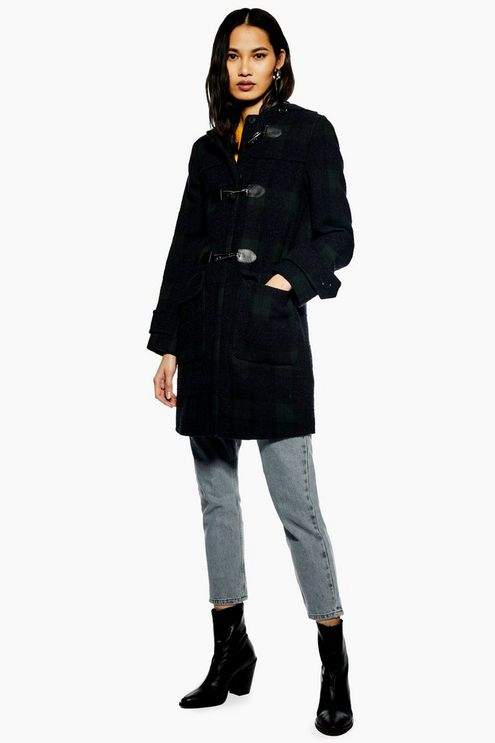 Checked Duffle Coat