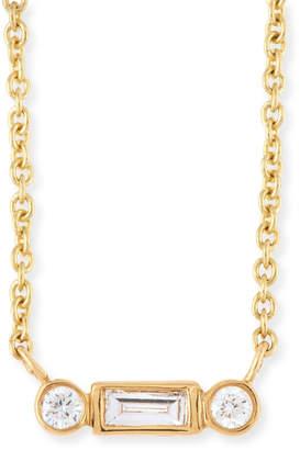Sydney Evan Bezel Baguette Diamond Necklace