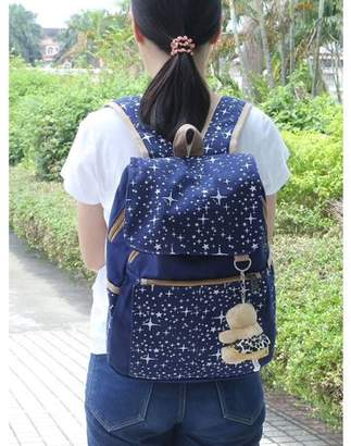 ONLINE 3PCS/Set Women Backpack Comfortable Girl School Bag Canvas Travel Pack Protable Shoulder Bag Lightweight Rucksack
