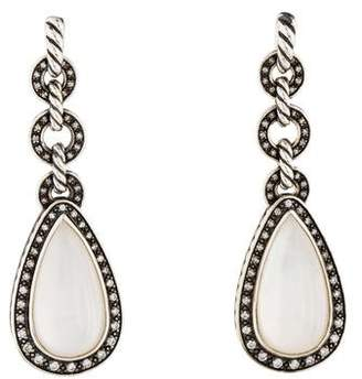 David Yurman Diamond & Mother of Pearl Anjou Drop Earrings