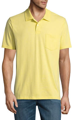 ST. JOHN'S BAY Short Sleeve Jersey Polo Shirt