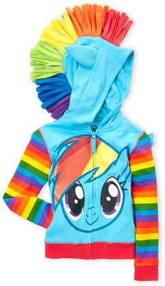 My Little Pony Girls 4-6x) Rainbow Stripe Zip-Up Hoodie