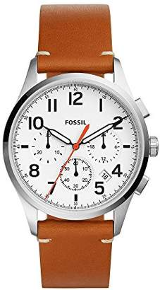 Fossil Men's 'Vintage 54 Chrono Timer' Quartz Stainless Steel and Leather Casual Watch