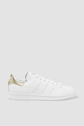 adidas Stan Smith Metallic-trimmed Leather Sneakers - White
