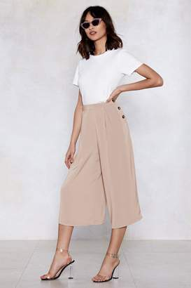 Nasty Gal Culotte Me Later Button Pants