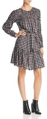 Rebecca Taylor La Vie Shirred Plaid Dress