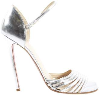Christian Louboutin Silver Leather Heels