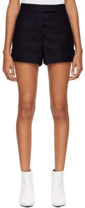 Thom Browne Navy Backstrap Mini Shorts