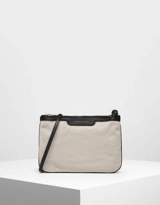 Charles & Keith Canvas Crossbody Bag