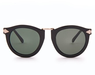596030a4ebd Karen Walker Harvest Round Acetate Sunglasses - Womens - Black