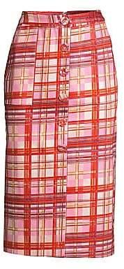 AMUR Women's Shawn Plaid Midi Skirt