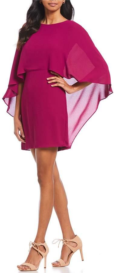 H Halston Cape Sleeve Dress