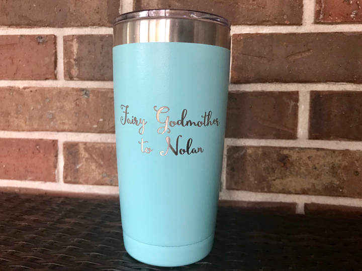 Etsy Godmother gift, fairy godmother cup, godmother gift idea, Stainless Steel Tumbler, godmother tumbler