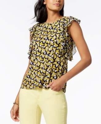 Michael Kors MICHAEL Ruffled Top, Regular & Petite, Created for Macy's