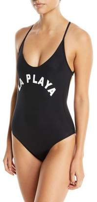 Pilyq Farrah La Playa Scoop-Neck One-Piece Swimsuit
