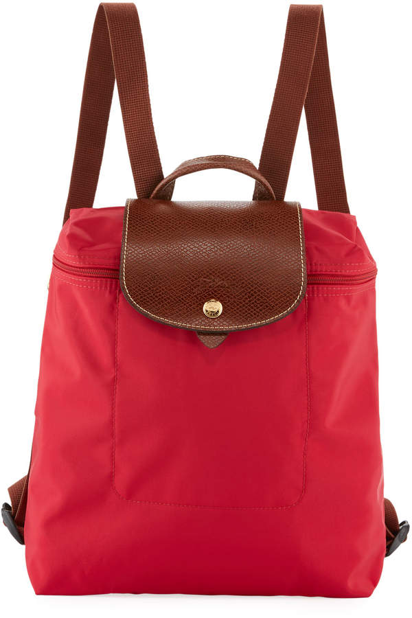 Longchamp Le Pliage Nylon Backpack, Red - RED - STYLE