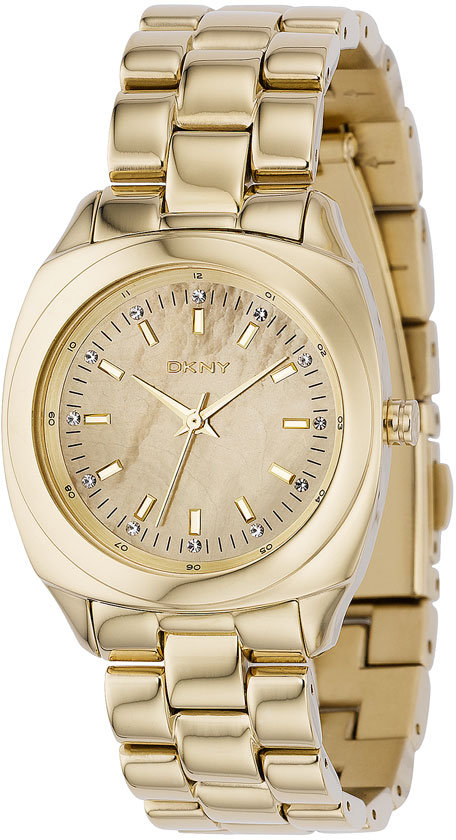 DKNY Crystal Index Chrome Bracelet Watch