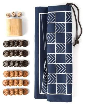 Studio Nicco Backgammon & Checkers Game Set with Canvas Bag