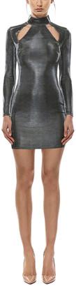 Misha Collection Mock Neck Sequin Mini Dress