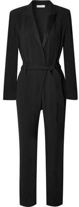 IRO Jesalo Belted Crepe Jumpsuit - Black