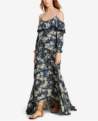 Denim & Supply Ralph Lauren Ruffled Floral-Print Off-The-Shoulder Dress $165 thestylecure.com