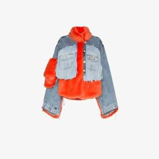 Natasha Zinko faux fur denim jacket