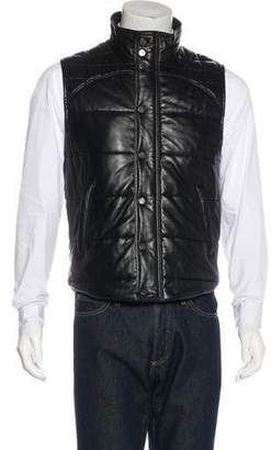 Givenchy Leather Quilted Vest