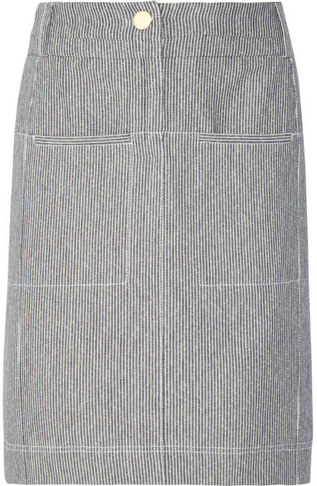 Altuzarra Monsoon striped cotton-canvas pencil skirt