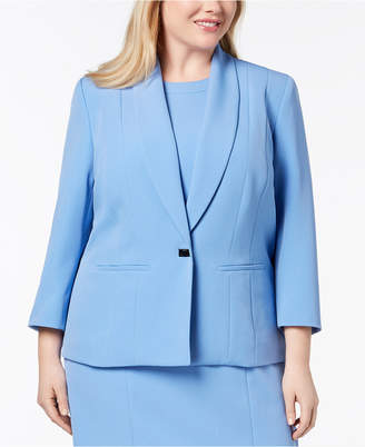 Kasper Plus Size One-Button Jacket