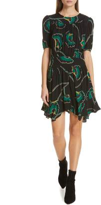 BA&SH Leo Belted A-Line Dress