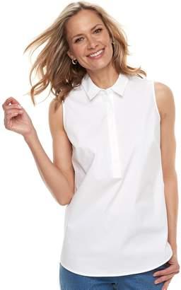 Croft & Barrow Women's Wrinkle-Resistant Sleeveless Shirt